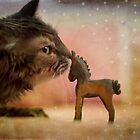 Little blue horse by Lynn Starner