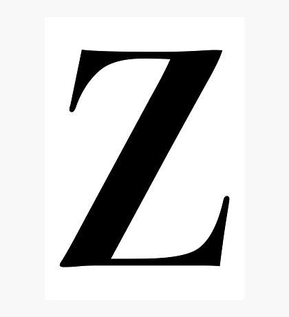 Z - Black  Photographic Print