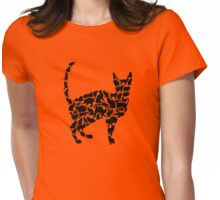 Kitty-Cat-Kitty (black) Womens Fitted T-Shirt