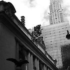 Grand Central & Chrysler Building - B&W by Amanda Vontobel Photography