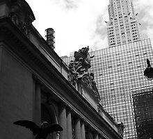 Grand Central & Chrysler Building - B&W by Amanda Vontobel Photography