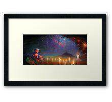 staring off yonder to the endless beyond Framed Print
