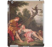 Francois Boucher - The Sleeping Shepherdess. Lovers portrait: sensual woman, woman and man, kiss, kissing lovers, love relations, lovely couple, family, valentine's day, sexy, romance, female and male iPad Case/Skin