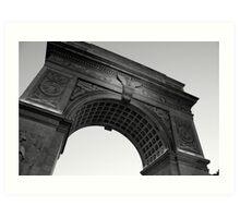 Washington Square Park Arch - B&W Art Print