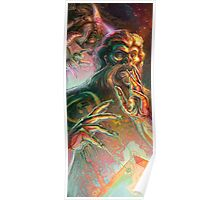 Yeti Endowing Bigfoot with the Spirit of Eternity Poster
