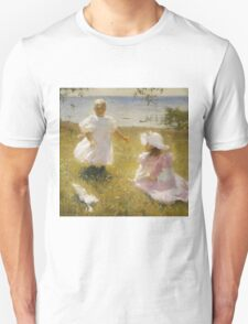 Frank Weston Benson - The Sisters. Child portrait: cute baby, kid, children, pretty angel, child, kids, lovely family, boys and girls, boy and girl, mom mum mammy mam, childhood Unisex T-Shirt