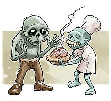 Zombies Share Pie by wolfehanson