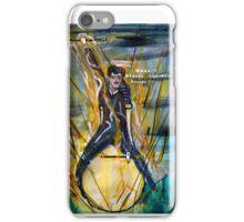 Nikola Tesla Riding The Light Bulb iPhone Case/Skin
