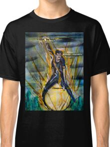 Nikola Tesla Riding The Light Bulb Classic T-Shirt