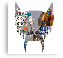 TRANSFORMERS FIGURES!!! Beast Wars Maximal Logo  Canvas Print