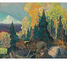 Franklin Carmichael - Bay Of Islands . Mountains landscape: mountains, rocks, rocky nature, sky and clouds, trees, peak, forest, rustic, hill, travel, hillside Photographic Print