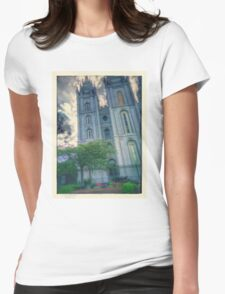 Salt lake temple Womens Fitted T-Shirt