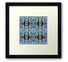 Nature's stained Glass Windows Framed Print