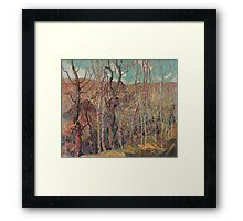 Franklin Carmichael - Silvery Tangle 1921. Forest view: forest view, trees, field, nature, botanical forestry, floral flora, wonderful flowers, plants, cute plant, garden, flowers Framed Print