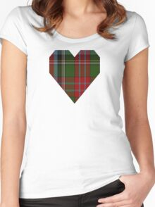 00918 Wilson's No. 90 Fashion Tartan  Women's Fitted Scoop T-Shirt