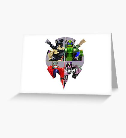 TRANSFORMERS FIGURES!!! Beast Wars Predacon Logo Greeting Card