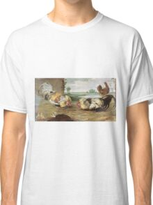 Frans Snyders - A Cock Fight. Bird painting: cute fowl, fly, wings, lucky, pets, wild life, animal, birds, little small, bird, nature Classic T-Shirt