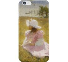 Frank Weston Benson - The Sisters. Child portrait: cute baby, kid, children, pretty angel, child, kids, lovely family, boys and girls, boy and girl, mom mum mammy mam, childhood iPhone Case/Skin