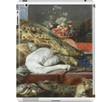 Frans Snyders - Larder With A Servant. hunting scenes painting: hunting man, nature, male, forest, wild life, masculine, dogs, hunt, manly, hunters men, hunter iPad Case/Skin