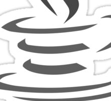 java black and white logo Sticker