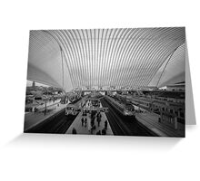 guillemins trains Greeting Card