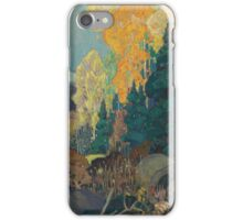 Franklin Carmichael - Bay Of Islands . Mountains landscape: mountains, rocks, rocky nature, sky and clouds, trees, peak, forest, rustic, hill, travel, hillside iPhone Case/Skin