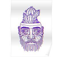 3d pot plant man Poster