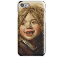 Frans Hals - Laughing Child 1620. Child portrait: cute baby, kid, children, pretty angel, child, kids, lovely family, boys and girls, boy and girl, mom mum mammy mam, childhood iPhone Case/Skin