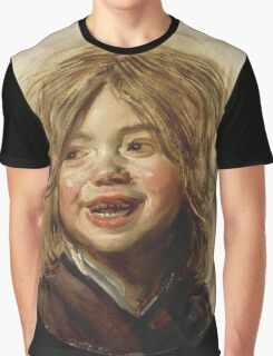 Frans Hals - Laughing Child 1620. Child portrait: cute baby, kid, children, pretty angel, child, kids, lovely family, boys and girls, boy and girl, mom mum mammy mam, childhood Graphic T-Shirt
