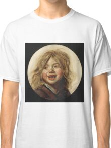 Frans Hals - Laughing Child 1620. Child portrait: cute baby, kid, children, pretty angel, child, kids, lovely family, boys and girls, boy and girl, mom mum mammy mam, childhood Classic T-Shirt