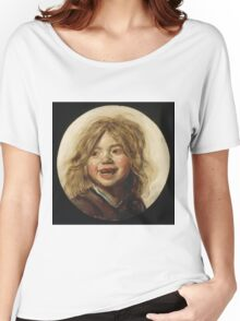 Frans Hals - Laughing Child 1620. Child portrait: cute baby, kid, children, pretty angel, child, kids, lovely family, boys and girls, boy and girl, mom mum mammy mam, childhood Women's Relaxed Fit T-Shirt