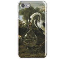 Frans Snyders - Fable Of The Fox And The Heron. Bird painting: cute fowl, fly, wings, lucky, pets, wild life, animal, birds, little small, bird, nature iPhone Case/Skin
