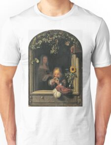 Frans Van Mieris The Elder - Boy Blowing Bubbles 1663 . Child portrait: cute baby, kid, children, pretty angel, child, kids, lovely family, boys and girls, boy and girl, mom mum mammy mam, childhood Unisex T-Shirt