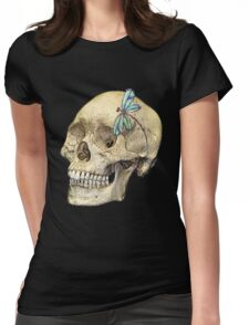 Skull & Dragonfly  Womens Fitted T-Shirt