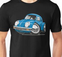 VW Beetle caricature blue Unisex T-Shirt
