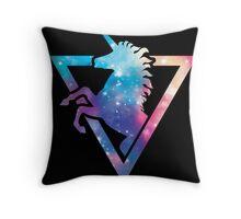 Galaxy Unicorn  Throw Pillow