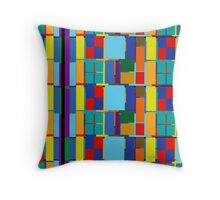 Abstract Square & Rectangles 6102016 Throw Pillow