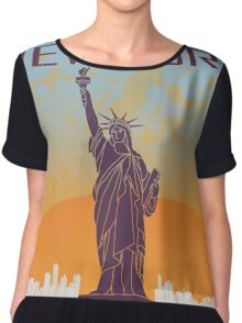 New York vintage poster Chiffon Top