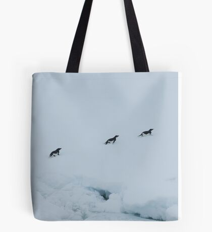 Penguin Chase Tote Bag