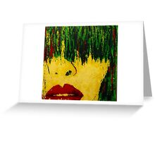 Yellow Face Greeting Card