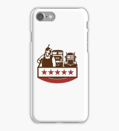 Power Washer Worker Truck Train Stars Retro iPhone Case/Skin