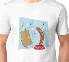 Dancing Hotdog Retro   Unisex T-Shirt