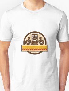 Train Engineers Arms Crossed Diesel Train Circle Retro Unisex T-Shirt