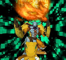 Agumon Warp Digivolve! by SpindashStudios