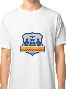 Train Engineers Arms Crossed Diesel Train Crest Retro Classic T-Shirt