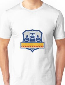 Train Engineers Arms Crossed Diesel Train Crest Retro Unisex T-Shirt