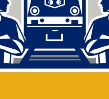 Train Engineers Arms Crossed Diesel Train Crest Retro Sticker