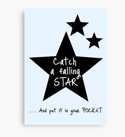 Catch a Falling Star - Blue Canvas Print