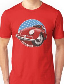 Sixties VW Beetle red Unisex T-Shirt