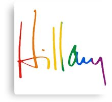 Rainbow Hillary Signature Canvas Print